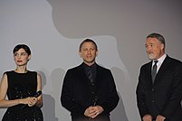 Rooney Mara, Daniel Craig and David Fincher
