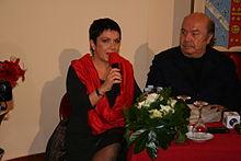 Lino Banfi con la figlia Rosanna a Canosa di Puglia nel 2011