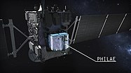 Artist's impression of Rosetta with Philae