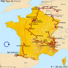 tour de france 2015 parcours officiel