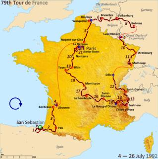 1992 Tour de France cycling race