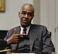 Roy Wilkins at the White House, 30 April, 1968.jpg
