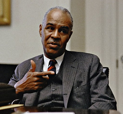 Roy Wilkins at the White House, 30 April, 1968