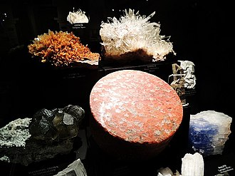 Royal Alberta Museum - A geology exhibit at the museum. The museum has a large collection of objects relating to geology and the earth sciences.