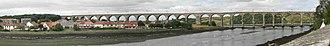 Royal Border Bridge - Image: Royal Border Bridge Panorama
