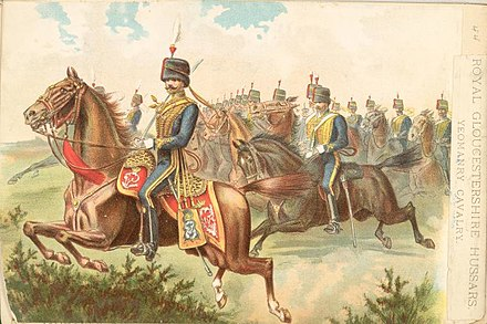 Yeomanry Cavalry of the late 19th century Royal Gloucestershire Hussars.jpg