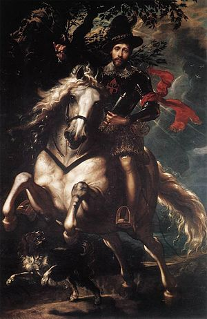 Portrait of Giovanni Carlo Doria on Horseback
