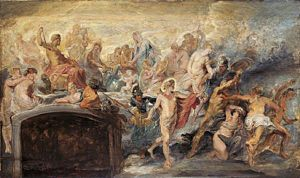 Divine Council - The Council of Gods (Sketch for the Medici Cycle) No.14, Peter Paul Rubens (1577–1640), Alte Pinakothek
