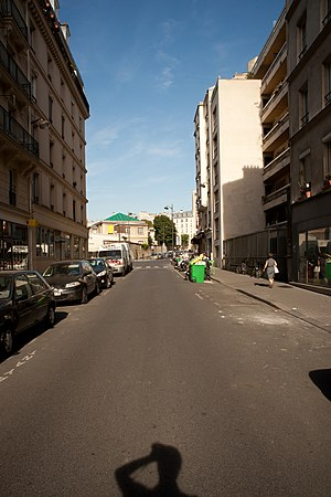 Rue Alibert - View of rue Alibert, with Hôpital Saint-Louis in the distance.