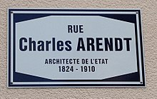 Rue Charles Arendt in Luxembourg-City (sign).jpg
