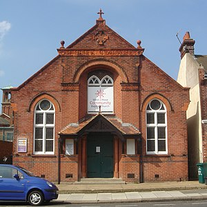 Hounsom Memorial United Reformed Church, Hove - Rutland Hall was sold to finance the Hounsom Memorial Church.