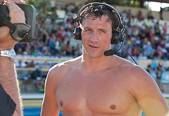 Bro (subculture) - Image: Ryan Lochte after winning 100 butterfly (9002490850)