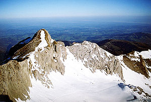 "Annette von Droste-Hülshoff - The Säntis, a mountain in the Alps near Schloss Eppishausen, which inspired Droste's poem ""Der Säntis"""