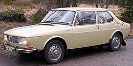 Saab 99.   Udseendet kom igennem årene til at ændres men på billedet ses originalversionen.