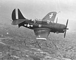 SB2C-5 Helldiver of VB-10 in flight over Tianjin in September 1945.jpg