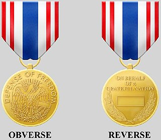 Secretary of Defense Medal for the Defense of Freedom Award