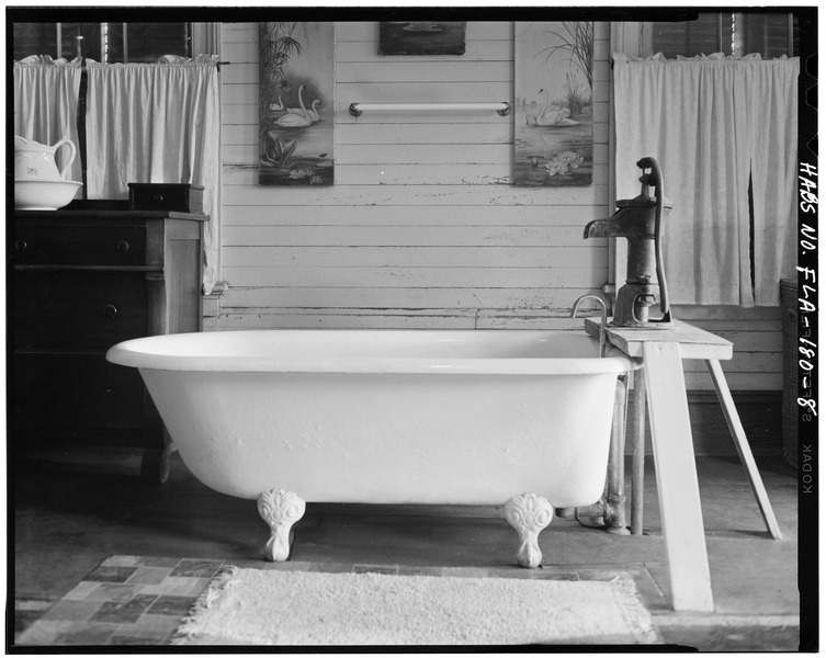 SECOND FLOOR, BATHTUB - Richard Moore Kemp House, 601 Caroline Street, Key West, Monroe County, FL