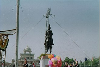 Man Singh II - The unveiling ceremony of Sawai Man Singh's statue in Jaipur on Rajasthan day, 30 March 2005