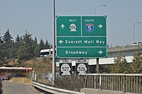 SR 526 and SR 527 terminus in Everett, WA.jpg