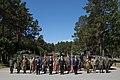 Saeimas priekšsēdētāja piedalās NATO paplašinātās klātbūtnes kaujas grupas sagaidīšanā Ādažos (35274281491).jpg