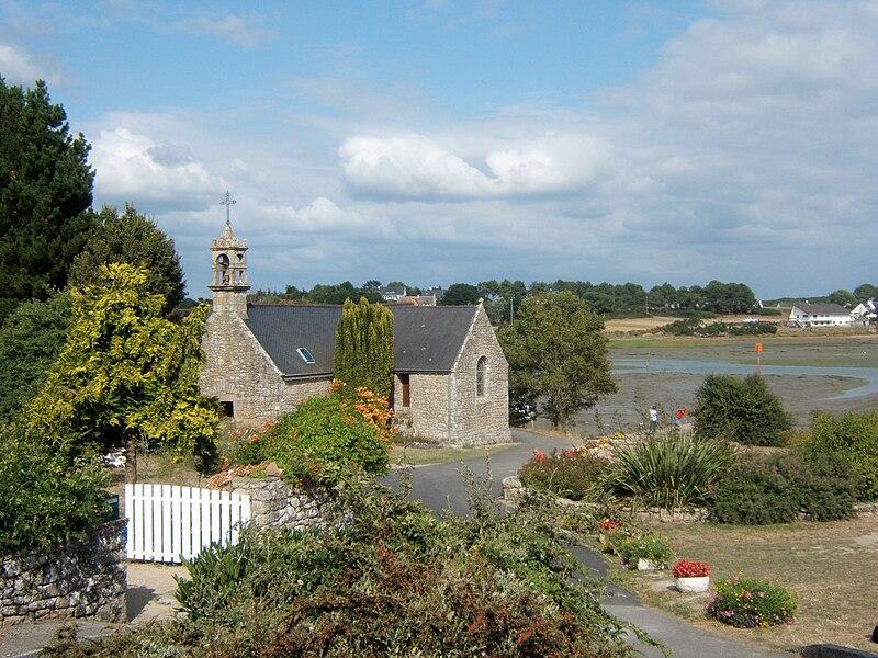 L'église Saint-Philibert de Saint-Philibert, non loin du Golfe du Morbihan.
