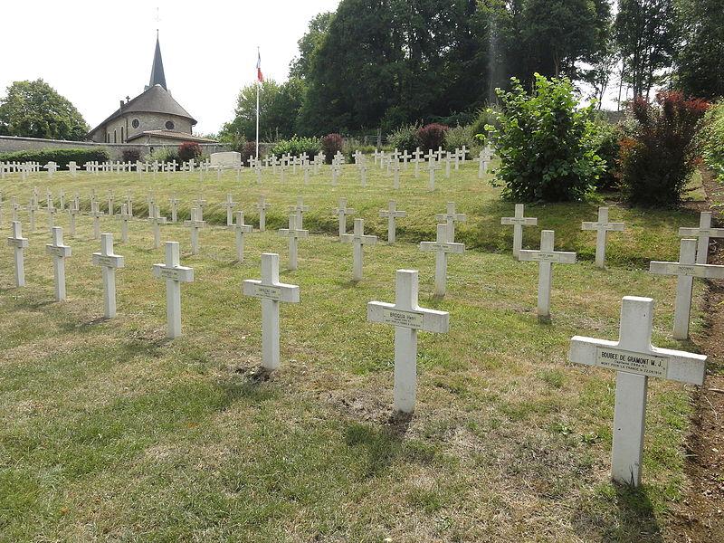 Saint-Rémy-la-Calonne (Meuse) nécropole nationale (04) les tombes de la compagnie d'Alain-Fournier