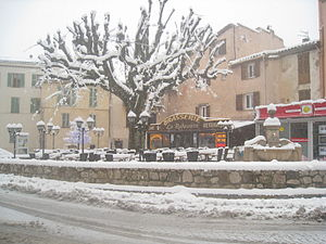Saint-Vallier-de-Thiey - Saint-Vallier-de-Thiey under snow, in February 2010