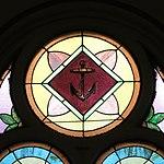 Saint Anthony Catholic Church (Temperance, MI) - stained glass, anchor.jpg