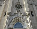 Saint Julie Billiart Catholic Church (Hamilton, OH) - tympanum & rose window.jpg