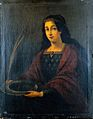 Saint Lucy. Oil painting by a Spanish painter (Seville) Wellcome L0018049.jpg