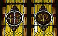 Saint Mary Catholic Church (Philothea, Ohio) - stained glass, Holy Name and Marian monogram.jpg