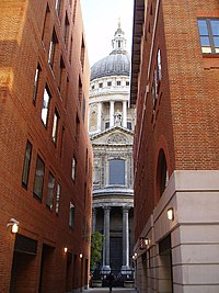 Saint Pauls Cathedral as seen from Paternoster Row - geograph.org.uk - 77268.jpg