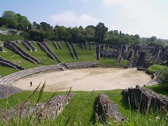 Mediolanum Santonum - The amphitheatre.