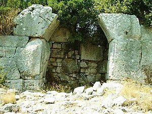 Fortifikationsmuren i Pythagoreion