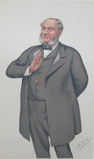 "Sampson Lloyd (MP) - ""Fair Trade"" Lloyd as caricatured by Spy (Leslie Ward) in Vanity Fair, March 1882"