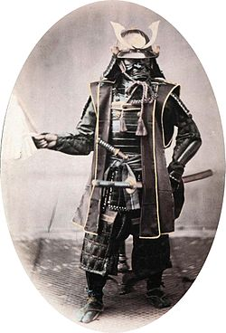 Samurai in armour, 1860s. Photograph by Felice Beato