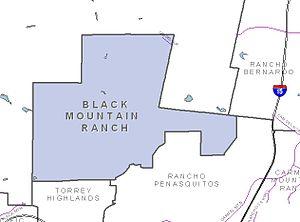 Black Mountain Ranch, San Diego - Image: San Diego Map Black Mountain Ranch