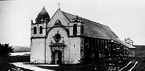 Carmel-by-the-Sea, California - The Mission at Carmel, c. 1910.