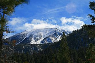 San Gorgonio Mountain - Image: San Gorgonio, snowcapped, clouds