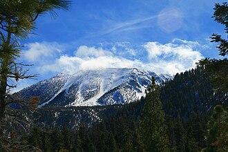 San Gorgonio Mountain - Image: San Gorgonio, snowcapped, clouds