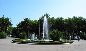 San Benedetto del Tronto - The round fountain in Giorgini Square