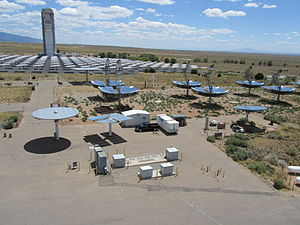 National Solar Thermal Test Facility - Image: Sandia NSTTF fieldimage