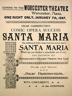 <i>Santa Maria</i> (operetta) opera