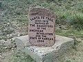 Santa Fe Trail stone marker 1906 close up at Cimarron National Grassland (9fae8ba5eb2a448580d509b0c80fb08e).JPG