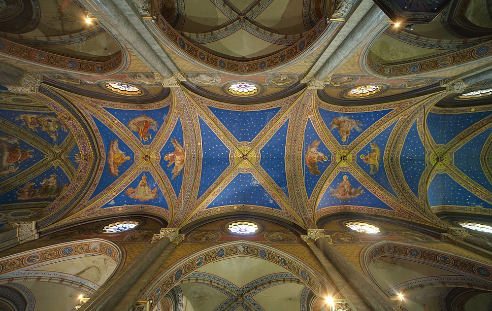 Santa Maria sopra minerva Rome main vault