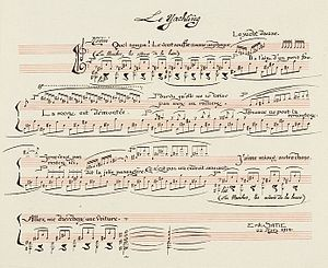 Sports et divertissements - Satie's score for Le Yachting