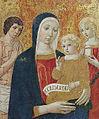 Saturnia, chiesa di santa maria maddalena, Madonna col Bambino fra San Sebastiano e Santa Maria Maddalena, attribuita a Benvenuto di Giovanni, della fine del sec. XV,.jpg