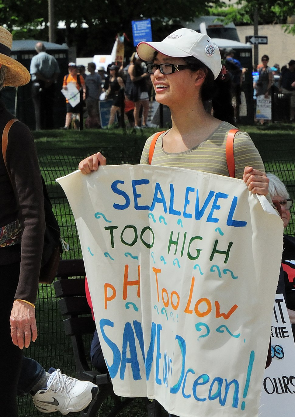 Save our ocean, People's Climate March, 29 April 2017 (cropped)