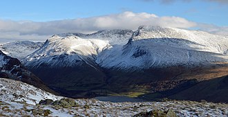 Scafell - Image: Scafell massif winter