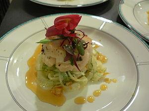 Nouvelle cuisine - Image: Scallop tangerine gastrique